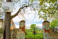 Стробы в кладбище с корзиной баскетбола сравнивают Стоковые Фотографии RF