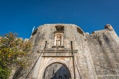 Стробы к городку Дубровника старому Стоковая Фотография