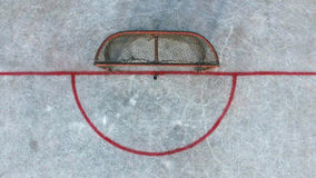 Стробы хоккея перед спичкой na górze хоккея улицы стоковые фото