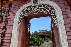 Строб актового зала, древнего города Hoian, Вьетнама Стоковая Фотография RF
