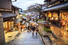 Строб виска Kiyomizu-dera в Киото, Японии Стоковая Фотография RF