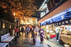 Строб виска Kiyomizu-dera в Киото, Японии Стоковая Фотография