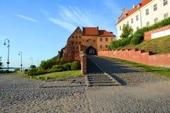 Строб воды к старому городку в Grudziadz Польша Стоковая Фотография