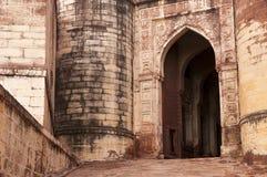 Строб входа к форту Mehrangarh, Джодхпуру, Индии Стоковые Фотографии RF