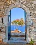 Строб в крепости Palamidi, Nafplio, Греции Стоковое Фото