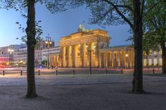 строб Германия berlin brandenburg Стоковая Фотография