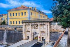 Строб города в городке Zadar, Хорватии Стоковая Фотография RF
