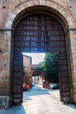 Строб города в Сиене, Тоскане, Италии Стоковое Фото