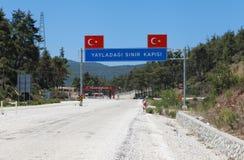 Строб граници Yayladagi, Турция. Стоковые Фото