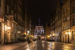 Строб Гданьска золотой Стоковое Изображение