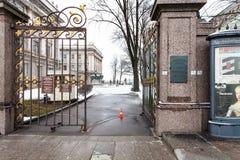Строб двора дворца мрамора Санкт-Петербурга Стоковое фото RF