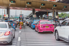 Строб для оплаты гонорара скоростной дороги в Бангкоке EXAT Стоковое Изображение