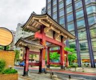 Строб демона виска Zojo-ji в токио Стоковая Фотография