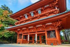 Строб демона, старый парадный вход к Koyasan (Mt Koya) в Wakayama Стоковые Фото