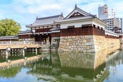Строб замка Хиросимы в префектуре Хиросимы, зоне Chugoku Стоковые Изображения RF