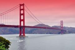 строб золотистый san ca francisco моста мы Стоковая Фотография RF