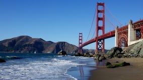 строб золотистый san california francisco моста Стоковые Изображения