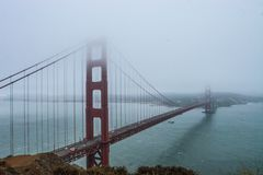 строб золотистый san california francisco моста Стоковое Изображение RF