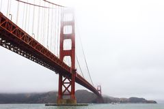 строб золотистый san california francisco моста Стоковое Фото