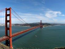 строб золотистый san fran моста Стоковое Фото