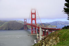 строб золотистый san franci моста Стоковое Изображение RF