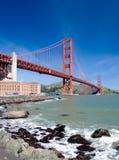 строб золотистый san franci моста Стоковая Фотография RF