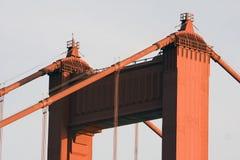 строб золотистый san francisco крупного плана моста Стоковое Изображение