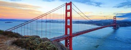 строб золотистый san francisco моста известный Стоковое Фото