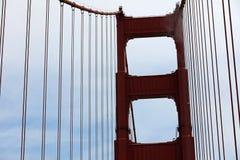 строб золотистый san francisco моста Стоковые Изображения RF