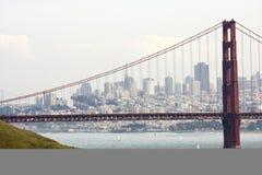 строб золотистый san francisco моста Стоковое Фото
