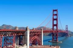 строб золотистый san francisco моста Стоковое Изображение