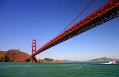 строб золотистый san francisco моста Стоковые Изображения