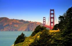 строб золотистый san francisco моста Стоковое Изображение RF
