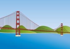 строб золотистый san francisco моста Иллюстрация штока