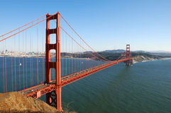 строб золотистый san francisco моста Стоковое фото RF