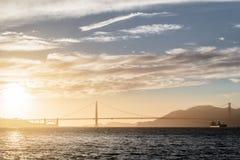 строб золотистый san california francisco моста стоковые фото