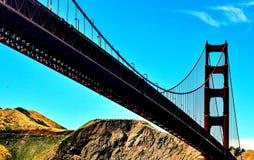 строб золотистый san california francisco моста Стоковые Изображения RF