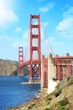 строб золотистый san francisco моста Стоковые Фотографии RF