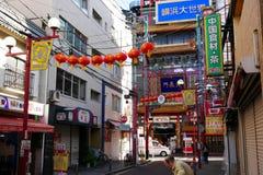Строб Иокогама Чайна-тауна Tenchoumon, город Иокогама, Japa Стоковое Изображение