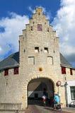 Строб и велосипедисты древнего города в Zierikzee Стоковое Фото
