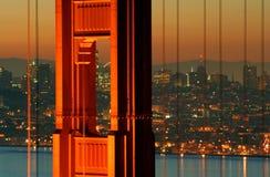 строб крупного плана моста золотистый Стоковые Фото