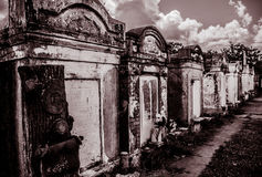 Строб кладбища Нового Орлеана Лафайета Стоковое фото RF