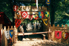 строб лагеря средневековый Стоковая Фотография