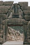 Строб льва - Mycenae - Греция стоковое изображение