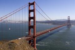 строб моста золотистый Стоковое Изображение