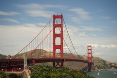 строб моста золотистый стоковые изображения rf