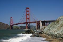 строб моста золотистый Стоковые Фото