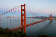строб моста золотистый стоковые фотографии rf