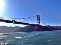 строб моста золотистый Стоковая Фотография
