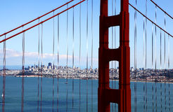 строб моста золотистый Стоковое Фото